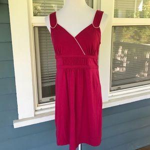 ANN TAYLOR Raspberry Summer Dress